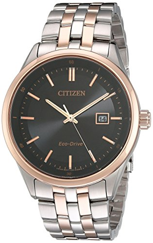 Citizen Men's Eco-Drive Stainless Steel Watch with Date, BM7256-50E