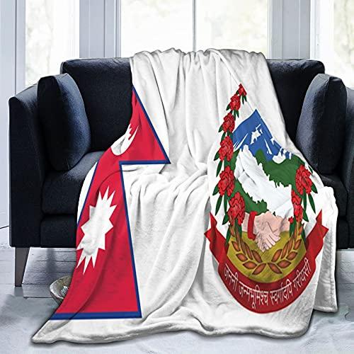 Flanelldecke mit Flagge von Nepal, flauschig, bequem, warm, leicht, weich, für Sofa, Couch, Schlafzimmer