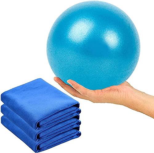 Mini Pilates Bola Bola Suiza Bola de Fitness de Yoga para Pilates Capacitación del núcleo de Yoga y Terapia física con Toalla de Yoga de Microfibra (Color: set2)-Serie 1