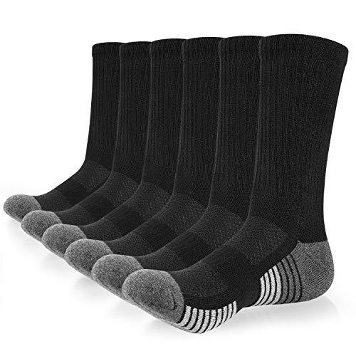 Anqier 6 Paar Socken Herren 43-46 39-42 35-38 47-50 Baumwolle Sneakersocken Damen Classic Herrensocken Lange Warm Wandersocken mit weicher Polsterung Sportsocken