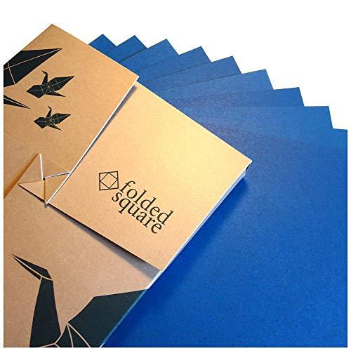 Blau Origamipapier | 100 Blatt, 15cm Quadrat | Pantone 301