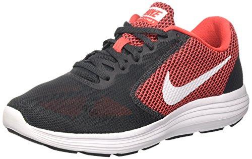 Nike Revolution 3, Zapatillas de Running Hombre, Gris (Anthracite/White/Track Red), 42 1/2 EU