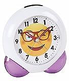 Atlanta Alarm Clock Smile Emo Love Purple White - 1918 8