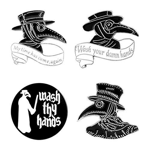 TaxpyBath Mats Pest Doktor Emaille Anstecknadeln Waschen Sie Ihre Hände Broschen Abzeichen Rucksack Mode Pins Geschenke für Freunde Großhandel Schmuck