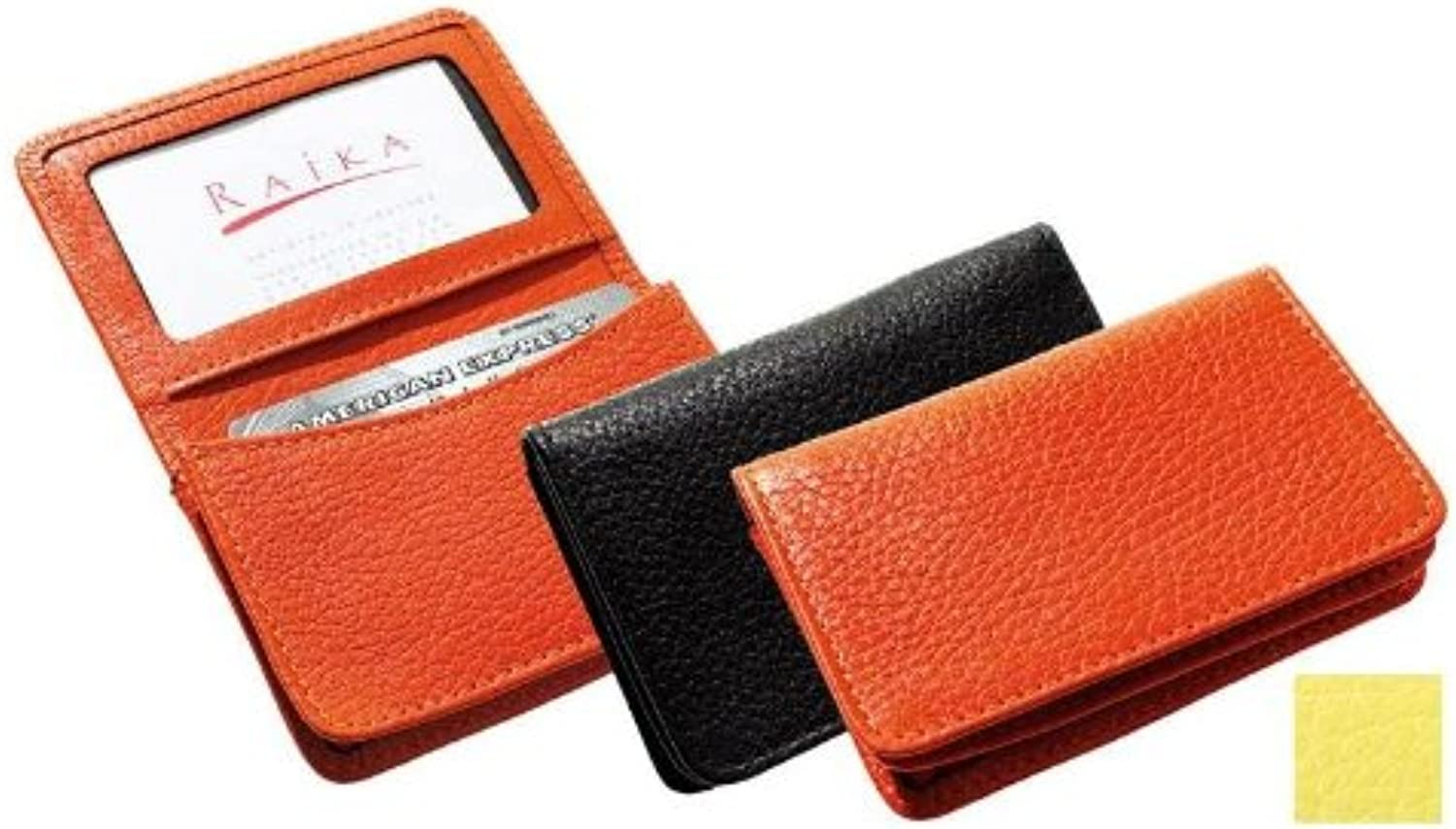 Raika RO 156 Yellow 2.75in. x 4.125in. Gussetted Card Case  Yellow