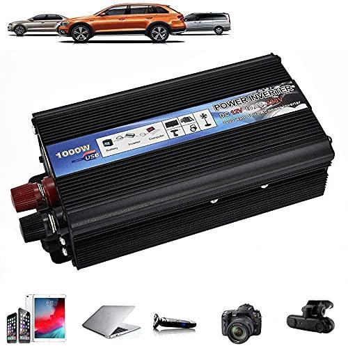 Ren sinusvågsomvandlare 500W/1000W/2000W spänningsomvandlare DC 12V/24V till AC 220V/230V/240V omvandlare - inverteromvandlare med USB-port