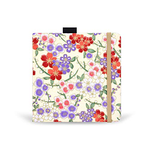 Square 5.1X5.1' 300gsm Watercolor Journal Hardbound 40pgs(20 Sheets Front Back 2 Textures)Travel Size for Calligrapher Colored Pencil Watercolor Sketch Handmade Cloth Cover Notebook Spring