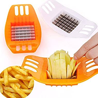 Ieasycan 1 pc Potato Cutter Stainless Steel Vegetable Potato Slicer Cutter Potato Cutting Device Square Slicers Cut Fries Device For Kitchen Tool