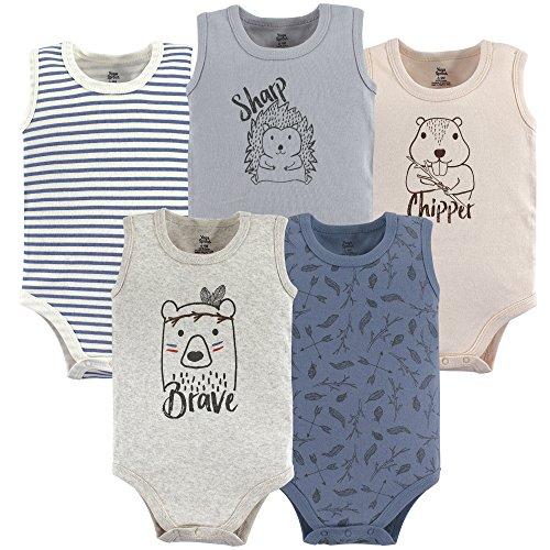 Yoga Sprout Unisex Baby Cotton Bodysuits, Wild Woodland Sleeveless, 18-24 Months