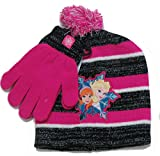 Disney Frozen Anna and Elsa beannie and mitts