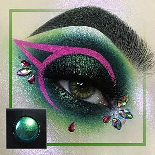4 pièces Ombre à paupières pigmentée multicolore Caméléon optique magique Miroir Ombre à paupières lisse Chrome poudré - Multicolore
