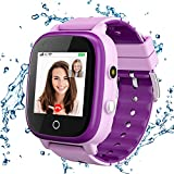 4G Kids Smartwatch, Smart Watch for Kids, IP67 Waterproof Watches with GPS Tracker, 2 Way Call Camera Voice & Video Call SOS Alerts Pedometer WiFi Wrist Watch, 3-12 Years Boys Girls Gifts