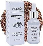 MELAO Sérum Contours des Yeux Caféine Anti-Rides, Anti-Cernes et Anti-Poches 100% Naturel et Végan pour Peaux Sensibles 30 ML