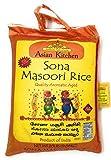Asian Kitchen Sona Masoori Aged Rice 20lbs Pound Bag (9.08kg) Short Grain Rice ~ All Natural   Gluten Free   Vegan   Indian Origin   Export Quality