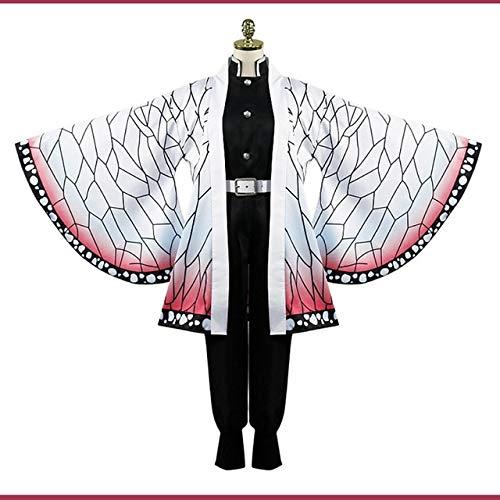 WSJDE Anime Blade of Demon Disfraces de Cosplay Kochou Shinobu Disfraz de Cosplay Fiesta de Carnaval de Halloween Kimetsu No Yaiba Disfraz de Cosplay M Solo Disfraz