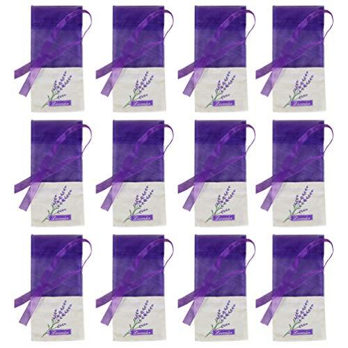 Cabilock 15 bolsitas de fragancia de lavanda, bolsas vacías, bolsas de fragancias, bolsas de organza, paquetes de perfume, zapatero, ambientador para cajón de coche, fresco y relajante para dormir