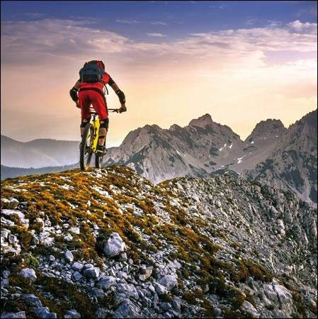 Photographic Greeting Card (WDM-435133) - Blank/Birthday - Sky's The Limit - Mountain Bike - Suitable for Birthdays and Other Occasions