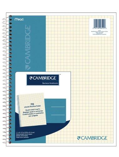 Cambridge 06194 Quad Wirebound Notizbuch, 70 Karat