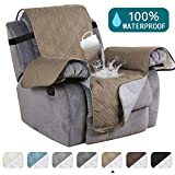 Waterproof Recliner Chair Cover For Small Recliners Pet Quilted Sofa Covers for Leather Non Slip Furniture Protector Soft and Cotton Finish Crafted Sofa Protector/Slipcovers, Recliner, Taupe
