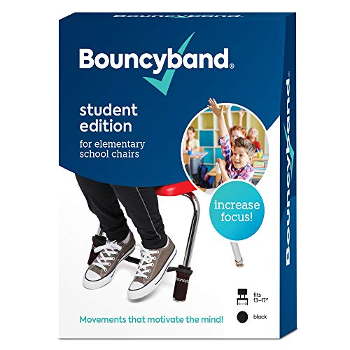 Original Bouncyband for Elementary School Classroom Chairs, Black – ADHD Tools Can Help Students Stay on Task Longer - Alleviate Anxiety/Stress, Hyperactivity and Boredom
