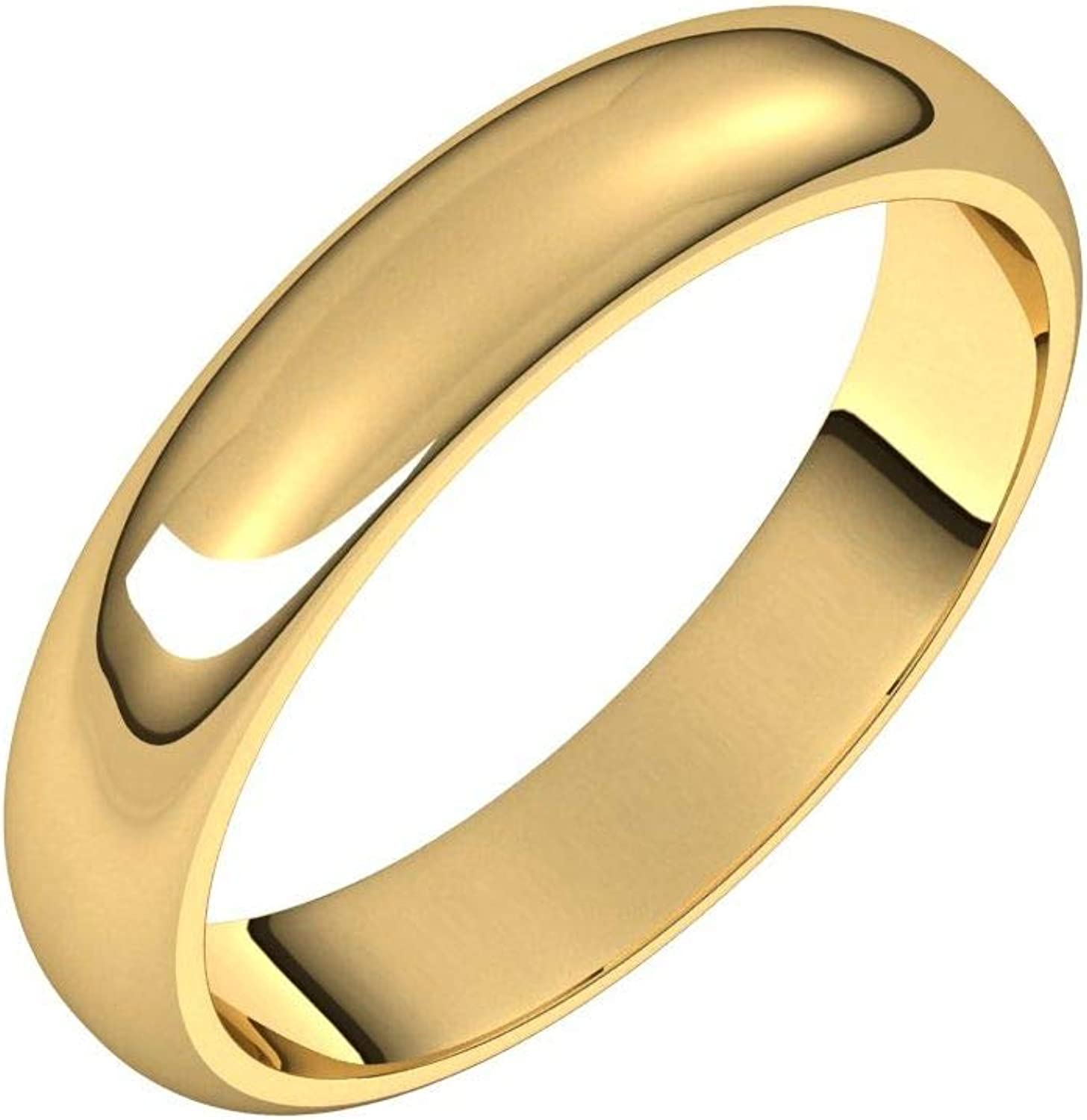 Diamond2Deal 18K Yellow 4 mm New product type Half Ranking TOP18 for Round Band Wedding Ring Wo