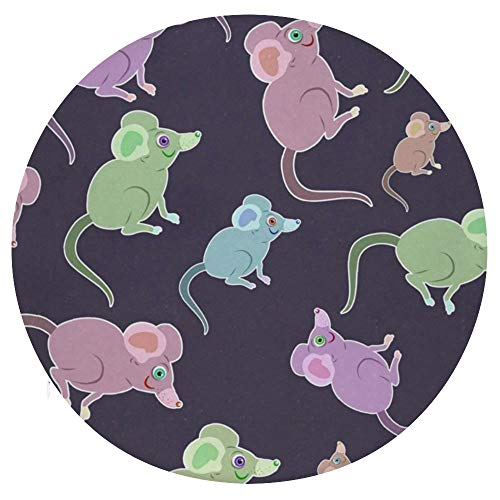 TOBEEY Cartoon Little Mouse Pattern Round Chair Pad Breathable Comfortable Throw Pillows Non Slip Stool Cushion for Bay Window