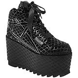 Killstar Samt Plateauschuhe - Mermad Platform Sneakers 41
