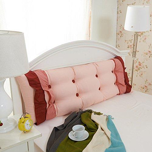LYRYIH Driehoekige katoenen wig, dubbele kamer bedrukt zitkussen lang kussen slaapkamer floating Window Tatami-matten afneembaar lezen hoofdkussen