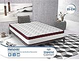 Imperial Confort Helsinki - Colchón Viscoelástico de grafeno - Doble cara (invierno/verano) - Grosor 25 cm - 150x190