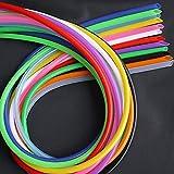 Zmaoyun-PVC Mangueras de conducto ID de tubo de silicona flexible colorido 3mm x 5 mm SOBREDOSIS Conector de tubo de goma de goma de agua no tóxica de grado alimenticio, Resistente al desgaste y a la