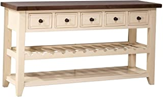 Hillsdale Tuscan Retreat 5 Drawer Sideboard with Wine Rack