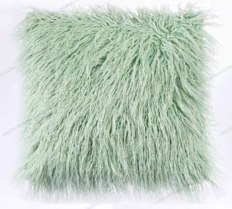 XUBF-pads, 43 * 43 cm Weiche Faux Wolle Waschbar Kissen Warme Haarige Sitzkissen Lange plüsch Kissen for Auto bürostühle Sofas (Farbe : 02, Größe : 43X43cm just Cover)