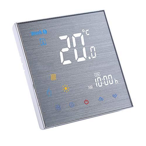 Funien Termostato para Calentamiento de Agua, BTH-3000L-GC Termostato de calefacción de Caldera de Agua/Gas Controlador de Temperatura Digital Pantalla LCD Grande Control de botón táctil 5A AC