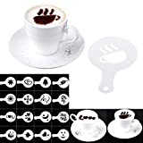 Coffee Barista Stencils Template Strew Pad Duster Spray Tools accesorios16Pcs / set