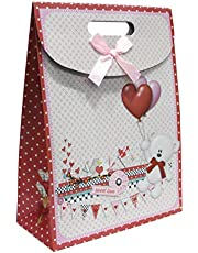 Cartoon Gift bags photo of bear and heart - 12 pieces