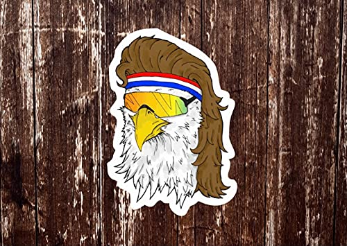 Eagle Mullet Viper Sticker, Redneck Sticker, Truck Stickers, Merica Decal, Southern Decal, Country Car Decal, Funny Stickers, Gift for Him (1 Pcs)
