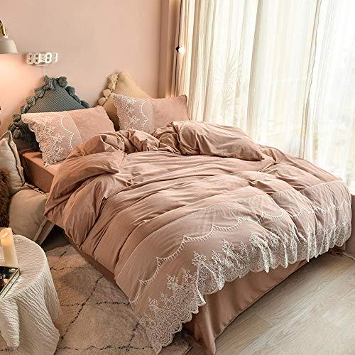 Edredón de microfibra reversible-Terciopelo de cristal engrosado cálido otoño e invierno de doble cara más funda nórdica para niños y niñas cama individual funda de almohada individual regalo-UN_Cama
