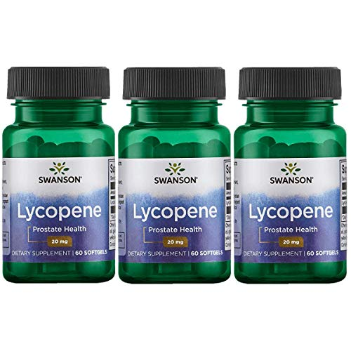 Swanson Lycopene 20 Milligrams 60 Sgels 3 Pack