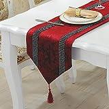 Chinesischen Stil Couchtisch Europäischen Tischfahne Diamant Westlichen Couchtisch Fahne Rote Tischfahne 33 * 280 cm