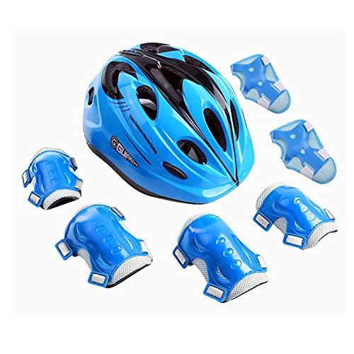 LYTBJ Casco de Bicicleta Casco de Bicicleta Cascos de Skate Usados para Proteger la Cabeza Tamaño Ajustable Adecuado para niños de 3 a 12 años (Color: Azul Oscuro)