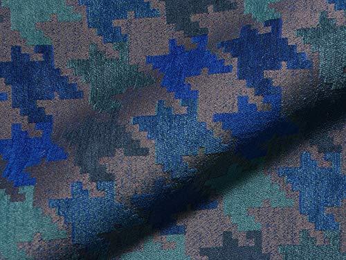 Möbelstoff JOOP! CLASSIC 809-150 Muster Abstrakt Farbe blau als robuster Bezugsstoff, Polsterstoff blau gemustert zum Nähen und Beziehen, Polyacryl, Polyester