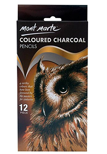 Mont Marte Coloured Charcoal Pencils 12pce