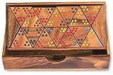 Tridomino - Triomino - Dominó de triángulo - Juego Divertido y Educativo para niños - Hecho a Mano en Madera con Caja de Almacenamiento de Madera