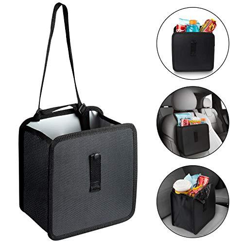 Cubo de Basura para Coche, Reciclado, portátil y Plegable