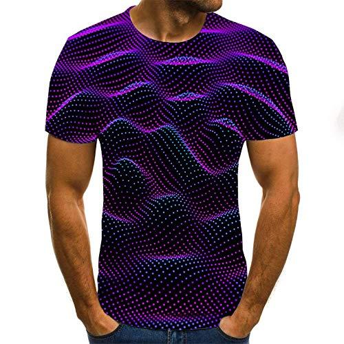 T-Shirt Popula 3D Impression numérique drôle Punky T-Shirt de Coupe ajustée, Chemise à Manches Courtes XXS Txu-1145