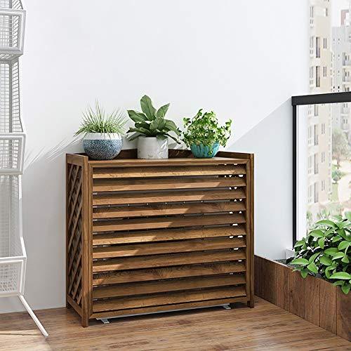 LWLEI Soporte De Madera for Plantas Soporte for Exhibición De Macetas Soporte for Macetas for Flores Soporte for Aire Acondicionado Interior Y Exterior Multifuncional (Color : Marrón, tamaño : 96cm)