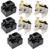HQRP 4-Pack Compressor 4.7 Ohm 1-Pin PTC Starter/Start Relay and Overload Kit compatible with Mini Fridges, Compact Refrigerators, Beverage & Wine/Beer coolers, Deep Freezers, Beer/Wine Refrigerators
