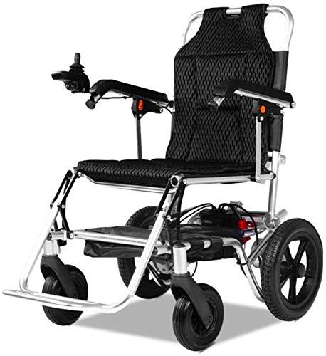 Fangfang Silla de Ruedas eléctrica Plegable, Silla de Ruedas, Silla de Ruedas motorizada Powerchair eléctrico for Adultos sillas de Ruedas Super Ligera Deber Plegable eléctrica 24AH
