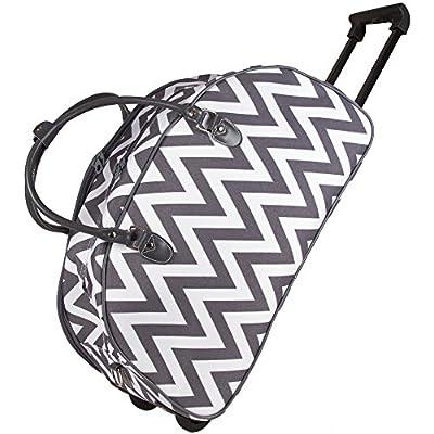 70%OFF Ever Moda Moroccan Tile Rolling Duffle Bag (Grey)