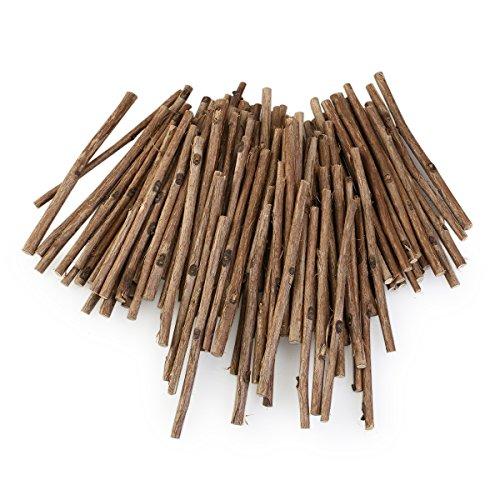 *WINOMO 100pcs Holzblock Sticks für DIY Handwerk 10CM langen 0,3-0,5 CM im Durchmesser (Holzfarbe)*